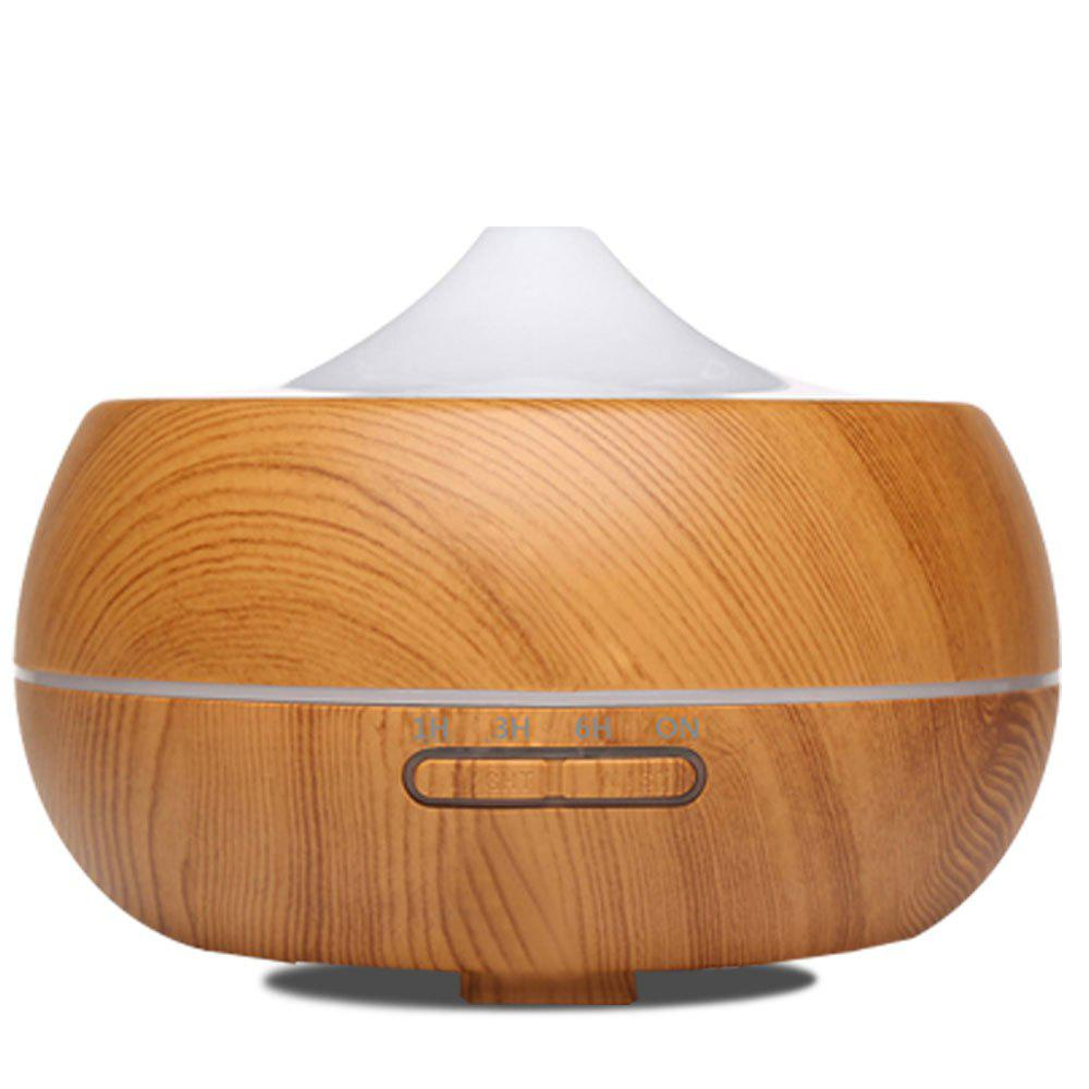Electric Air Freshener Ultrasonic Aromatherapy Diffuser 300ml - LIGHT WOODGRAIN EU PLUG