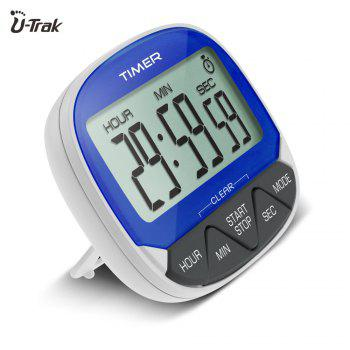 Large Lcd Magnetic Digital Timer with Holder -  CORNFLOWER