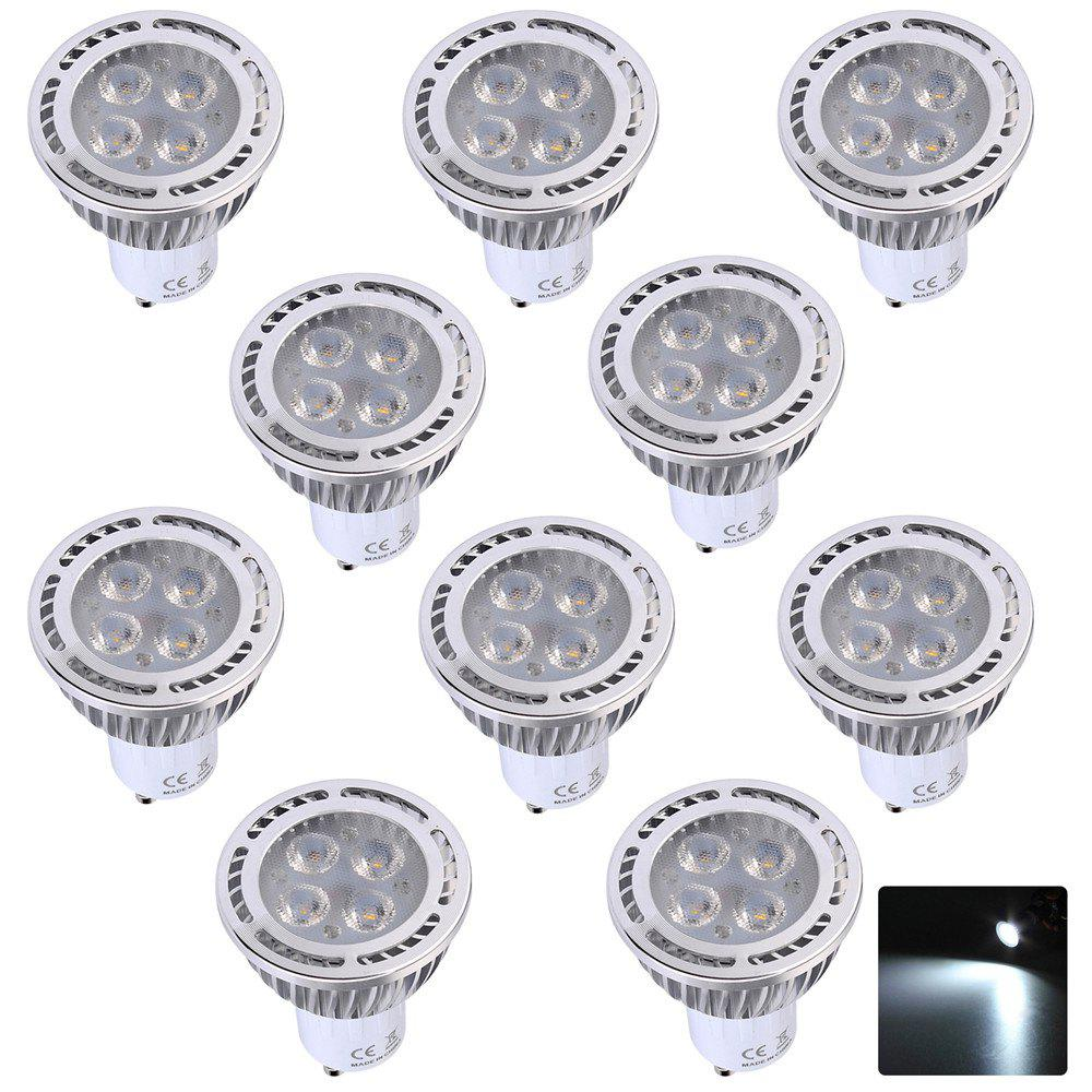 10PCS Ywxlight Gu10 4X3030 Smd Recessed Lighting Led Spotlight Ac 85 - 265V - COOL WHITE LIGHT