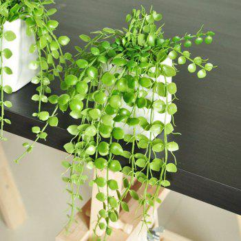 XM1 2 Branch Simulation Plant Sag Eucalyptus Home Decoration Artificial Flower -  GREEN