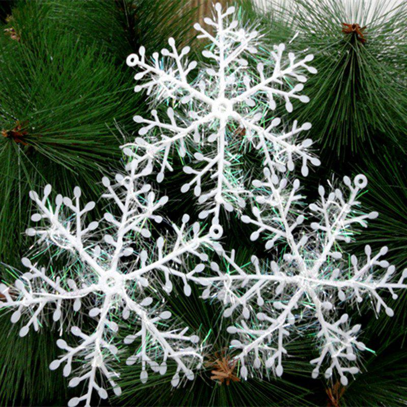 XM1 12PCS Christmas Decoration White Snowflake Ornaments 11CM - WHITE
