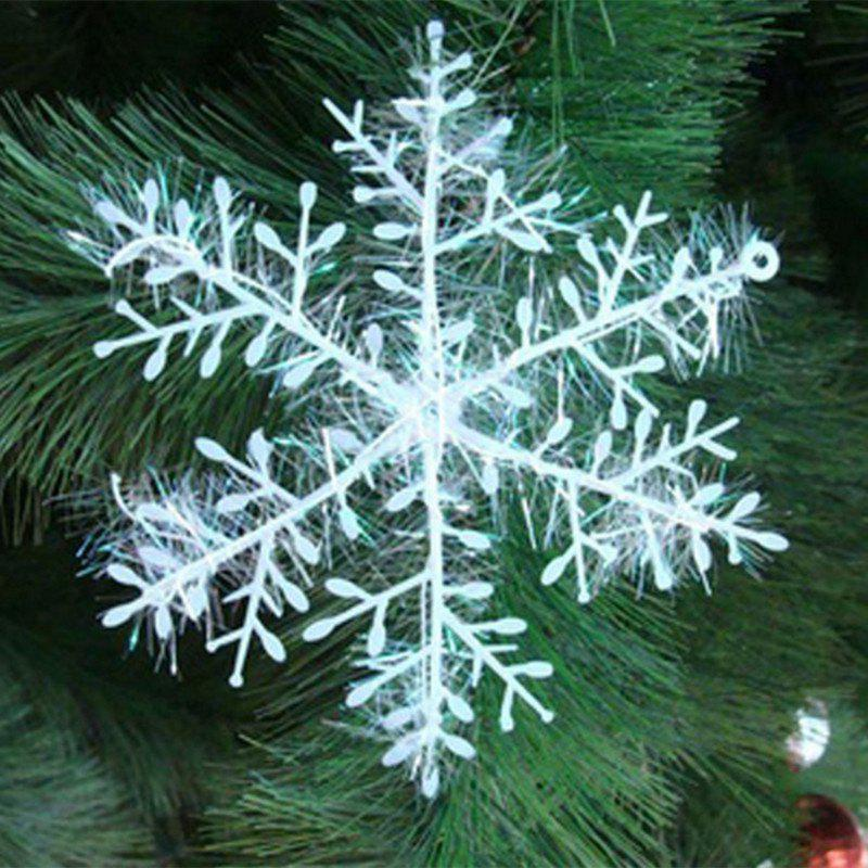 XM1 12PCS Christmas Decoration White Snowflake Ornaments 15CM - WHITE