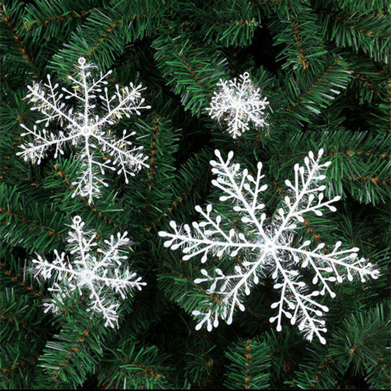 XM1 12PCS Christmas Decoration White Snowflake Ornaments 22CM - WHITE