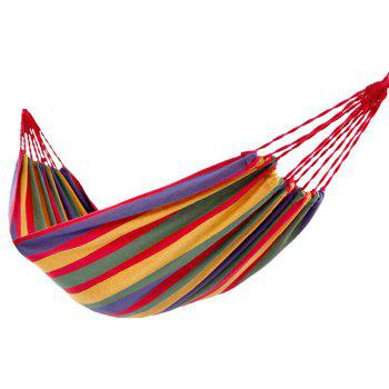 Fengtu Ft0021 Single Outdoor Camping Hammock Outdoor Hammock Men And Women Breathable Canvas Hammock - RED RED