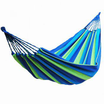 Fengtu Ft0021 Single Outdoor Camping Hammock Outdoor Hammock Men And Women Breathable Canvas Hammock - BLUE BLUE