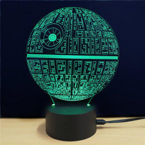 17 Off 2019 Shining Creative 3d Led Lamp The Death Star Shape Table Lamp In Colorful Dresslily