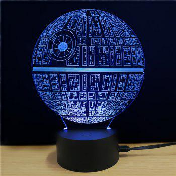 Shining Creative 3D LED Lamp The Death Star Shape Table Lamp - COLORFUL