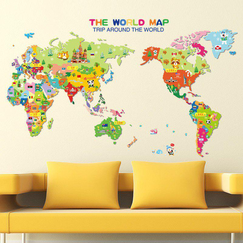 Colorful World Map Wall Sticker Decal Vinyl Art Kids Room - World map for kids room