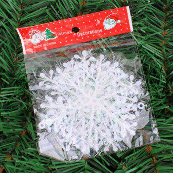 XM1 12PCS Christmas Decoration White Snowflake Ornaments 6CM -  WHITE