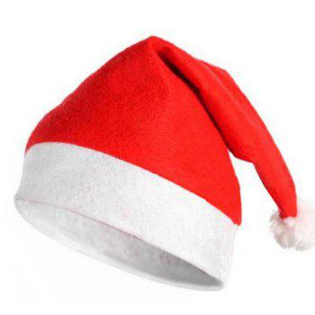 10PCS Adult Nonwovens Christmas Hat Christmas Party Decorate 28 x 38CM - RED RED
