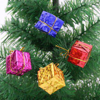 XM1 12PCS Christmas Small Gift Christmas Trees Accessories 2.5CM - COLORMIX COLORMIX