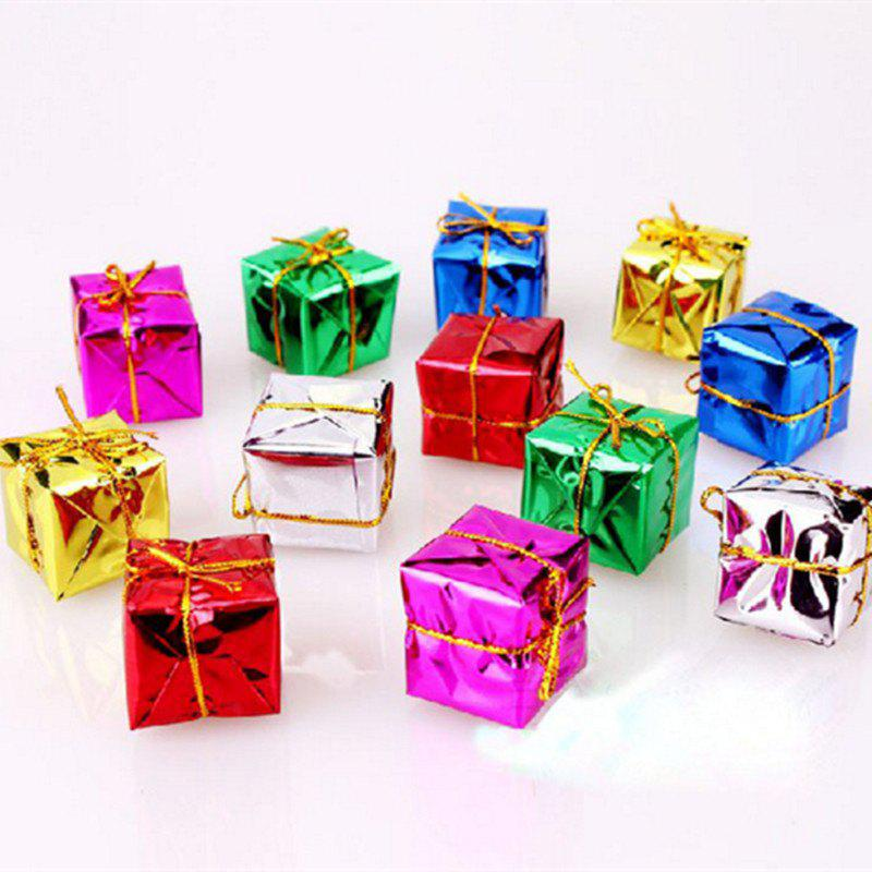 XM1 12PCS Christmas Small Gift Christmas Trees Accessories 2.5CM - COLORMIX