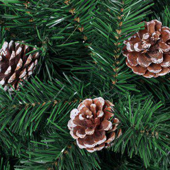 XM1 9PCS Natural Pine Cone Christmas Trees Decoration 5CM -  WHITE