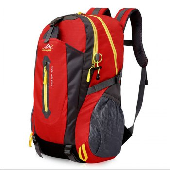 FengTu 40L Hiking Backpacks Soft Pack Climbing Outdoor Bags for Men And Women Sports Bag Camping - RED RED