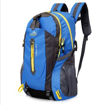 FengTu 40L Hiking Backpacks Soft Pack Climbing Outdoor Bags for Men And Women Sports Bag Camping - BLUE BLUE