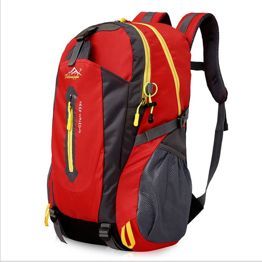 FengTu 40L Hiking Backpacks Soft Pack Climbing Outdoor Bags for Men And Women Sports Bag Camping - RED