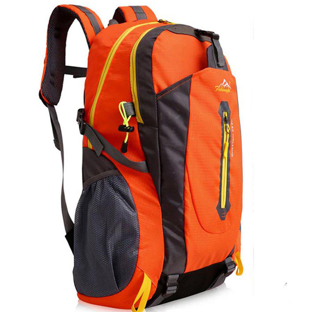 FengTu 40L Hiking Backpacks Soft Pack Climbing Outdoor Bags for Men And Women Sports Bag Camping - ORANGE