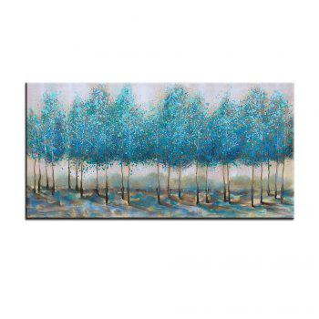 Yhhp Hand Painted Oil Painting Modern Woods Wall Art with Stretched Frame
