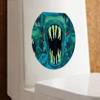 MCYH WL123 Giant Dinosaur Tooth Paste Toilet Wall - Vert 30*36CM