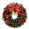 MCYH WL126 Christmas Garland Decorations - SNOW WHITE 40CM