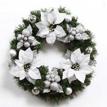 MCYH WL129 Christmas Garlands Christmas Wreaths Door Decorations - SNOW WHITE SNOW WHITE