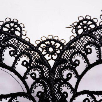 Mcyh Wl151 Costume Ball Black Sexy Lace Mask - BLACK 22*11CM