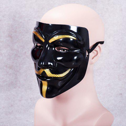 MCYH WL153 Black V Shape Mask - BLACK 2B 19*17CM