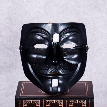 MCYH WL153 Black V Shape Mask - BLACK B 19*17CM