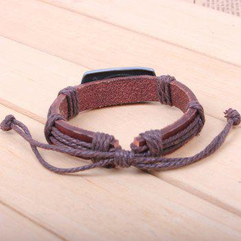Religion Jewelry Christian Engraved I Love Jesus Leather Bracelet -  BROWN