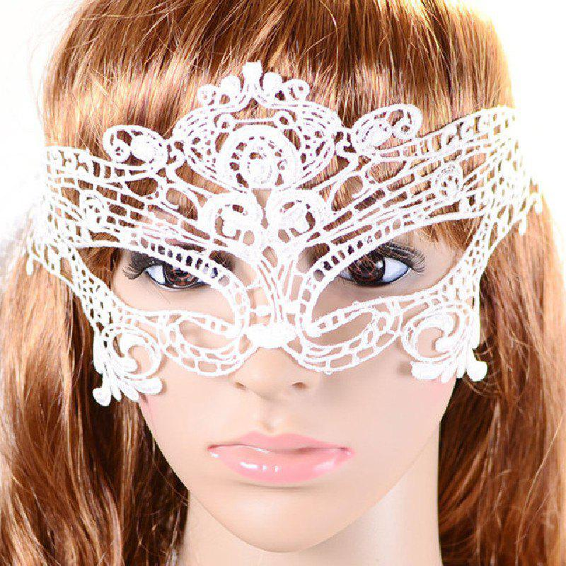 Yeduo Black Sexy Lady Lace Mask for Masquerade Halloween Party Fancy Dress Costume - SNOW WHITE