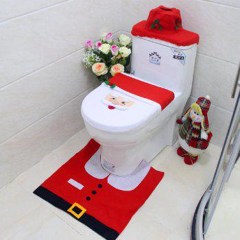 Yeduo New Year Best Gift Happy Christmas Santa Toilet Seat Cover Rug Bathroom Decorations - COLORMIX COLORMIX