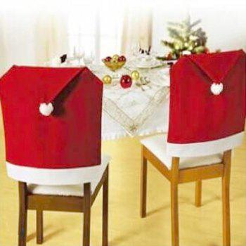 Yeduo Hort Santa Claus Hat Chair Covers Christmas Dinner Table Party - Rouge