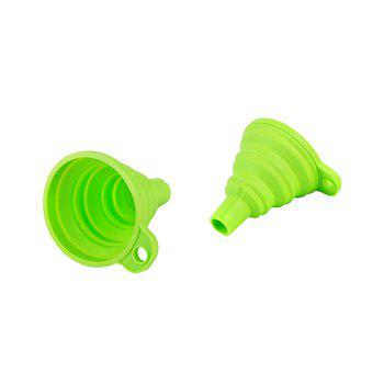 Foldable Silicone Funnel - Random Color -  MIXED COLOR /