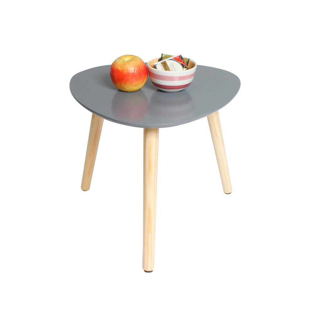 Happyhome Beistelltisch Grau Holzfuesse 40 X 40 X 40CM Support Local Delivery After-sales Service - GRAY