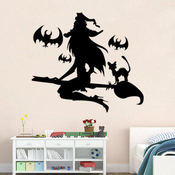 Mcyh Wl91 The Living Room Bedroom Window Glass Decorative Wall Stickers - BLACK