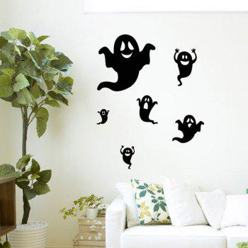 Mcyh Wl92 The Living Room Bedroom Window Glass Decorative Wall Stickers - BLACK
