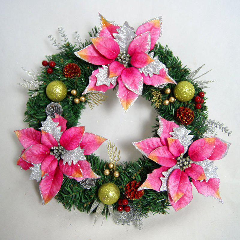 Mcyh Wl142 Garlands Decorations Christmas Wreaths Rattan Rings Door pendants - PAPAYA 30CM