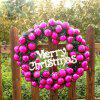 Mcyh Wl144 Red Flower Ring Decorated Christmas Rattan Rings Door Ornaments Pendants - PAPAYA 40CM