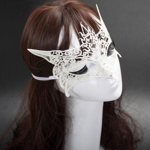 Mcyh Wl150 Halloween Supplies Sexylace Fox Mask - SNOW WHITE