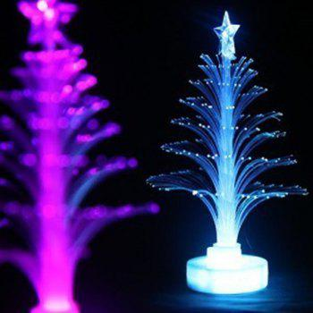 jueja novelty glowing fiber optic christmas tree night lamp led bottom sticker night light for children - Christmas Tree Night Light