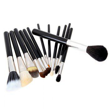 Todo 12X professional Makeup Brush with Cup Holder Case - BLACK COLOR BLACK COLOR