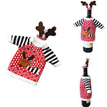 Yeduo Christmas Deer Elk Style Red Wine Champagne Bottle Covers Bag - COLORMIX COLORMIX