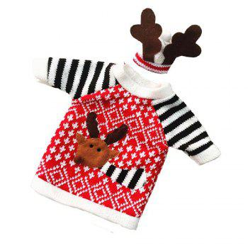 Yeduo Christmas Deer Elk Style Red Wine Champagne Bottle Covers Bag -  COLORMIX