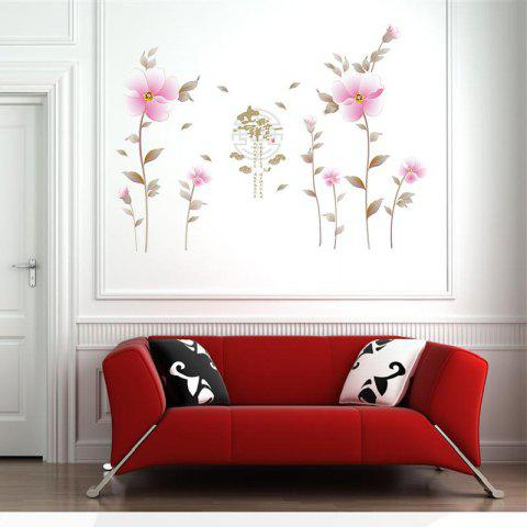 Peony Flowers Wall Decal for Toilet Fridge Kids Living Room Home - MIX COLOR 60 X 90CM