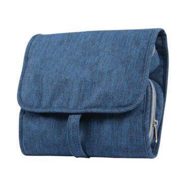 Travel Cosmetic Bag - Perfect Hanging Travel Toiletry Organizer - BLUE BLUE