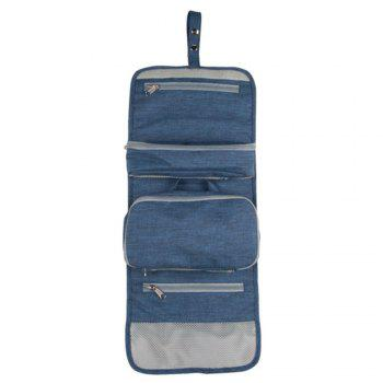 Travel Cosmetic Bag - Perfect Hanging Travel Toiletry Organizer -  BLUE