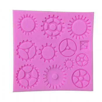 Aya Gear Wheel Cake Molds for Baking - PINK