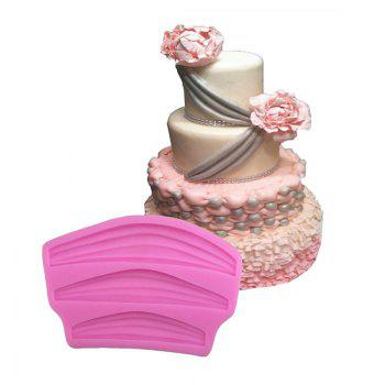 Aya Ribbon Lace Cake Molds for Baking - PINK PINK