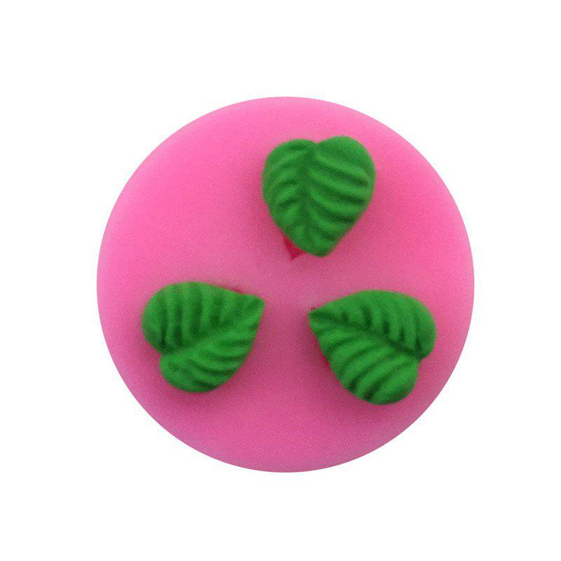 Aya Small Round Leaf Cake Molds - PINK