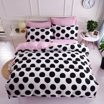 Dyy 4PCS Wave Point Bedding Set Pillowcase Bed Sheet Quilt Cover K12.1.2